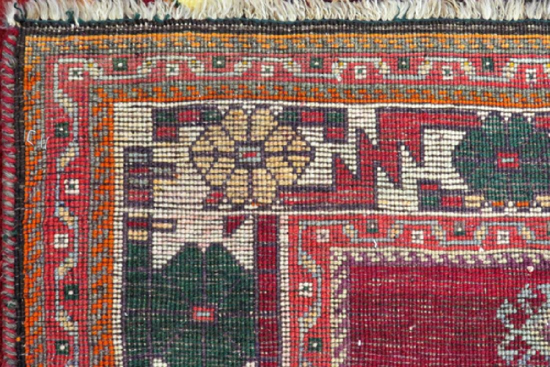 PERSIAN KARAJEH HAND WOVEN WOOL RUG - 4