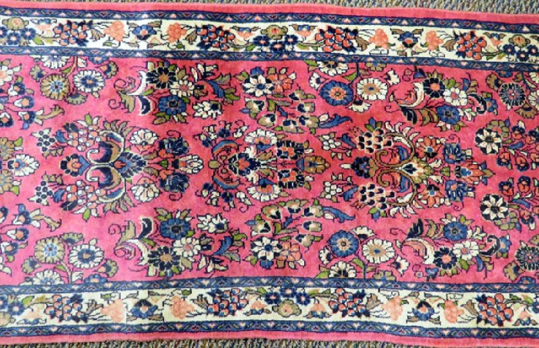 PERSIAN SAROUK HAND WOVEN WOOL RUNNER - 3