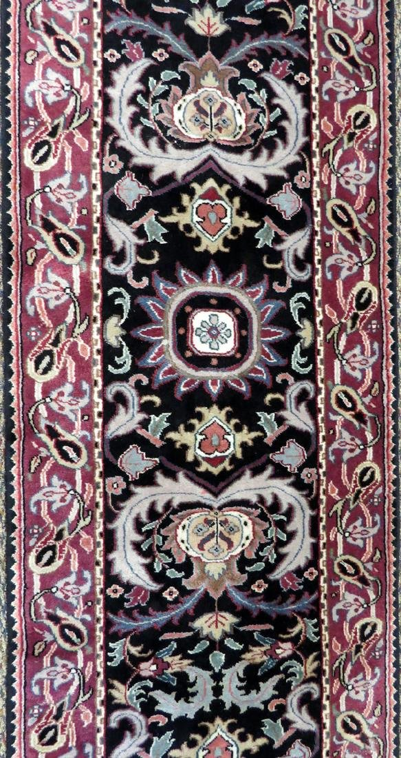 MOGHOL INDIAN HAND WOVEN WOOL RUNNER - 2