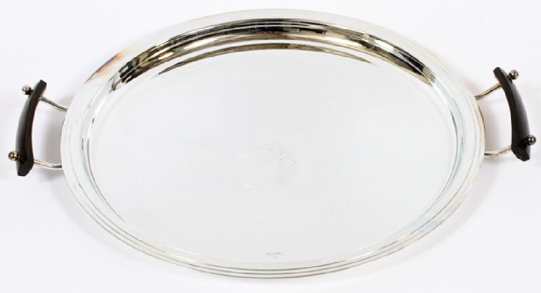 CHRISTOFLE SILVER PLATE  ROUND TRAY, W 19''