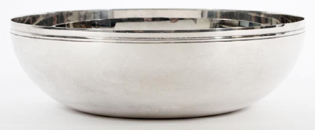 CHRISTOFLE 'VIBRATION' SILVER PLATE BOWL, DIA 6''