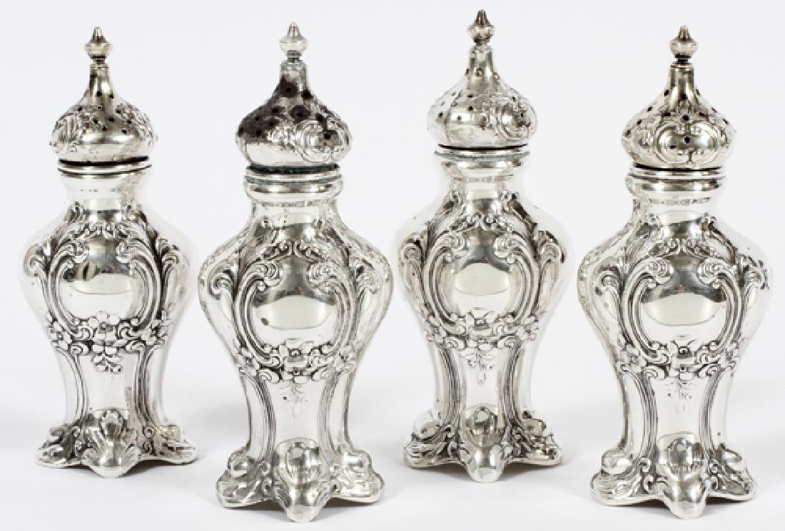 GORHAM STERLING SALT AND PEPPERS 2 PAIRS H 4.5""