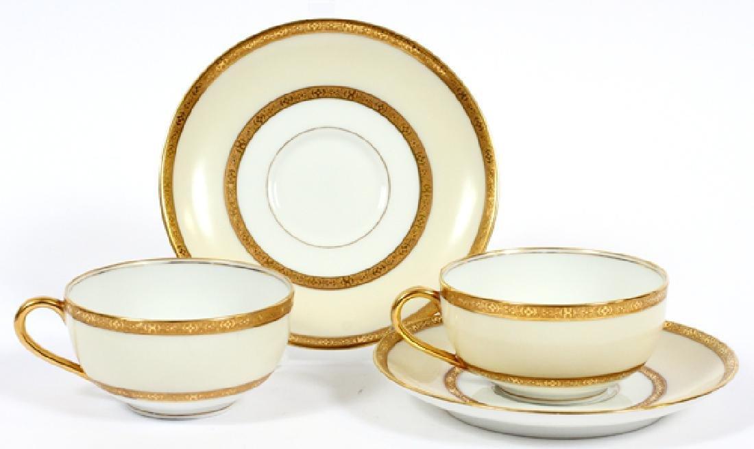 LIMOGES PORCELAIN TEA SET, 19 PCS.