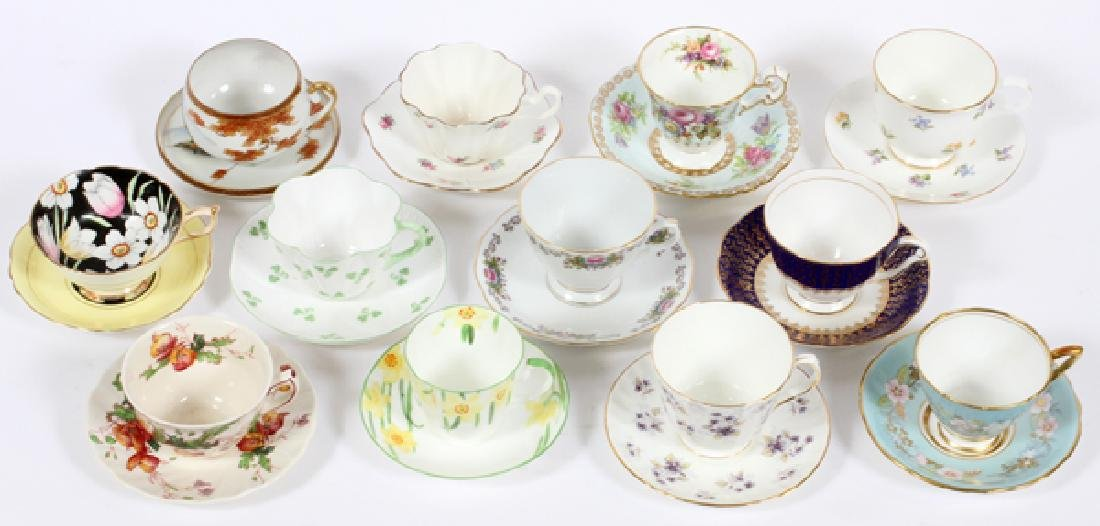 TEA CUPS & SAUCERS, SET OF 12 - 2