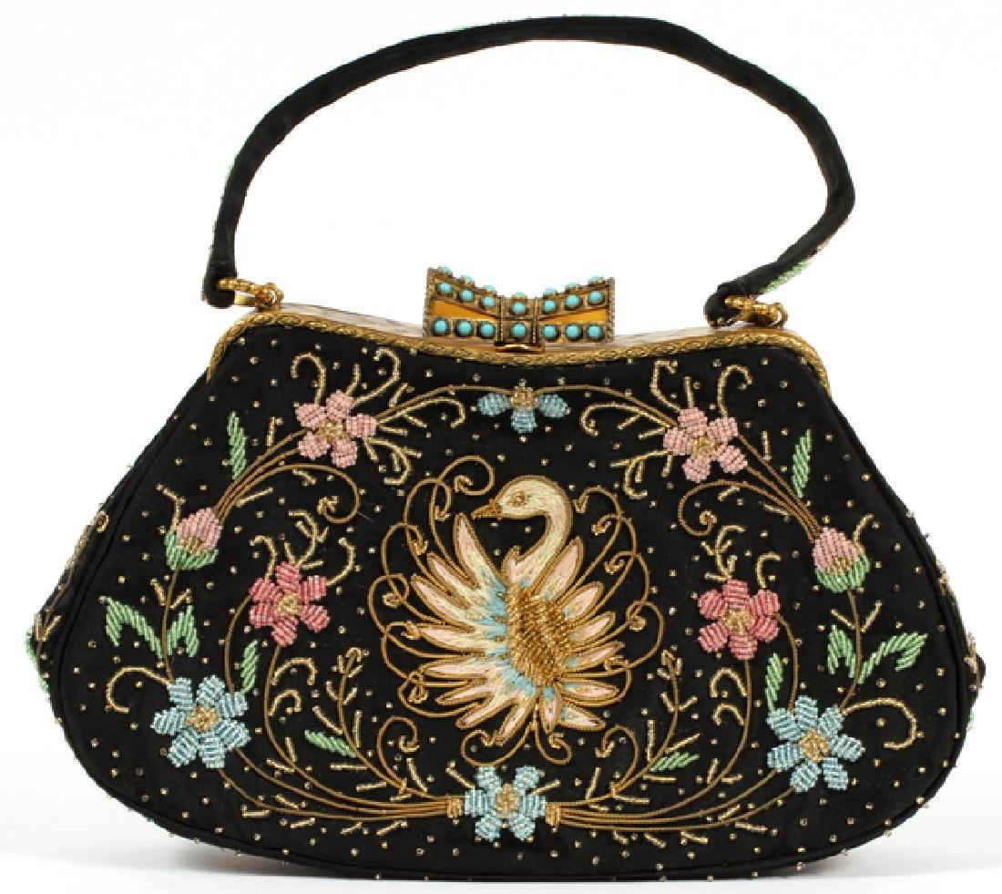DUIZEND-GANS, EMBROIDERED & BEADED PURSE