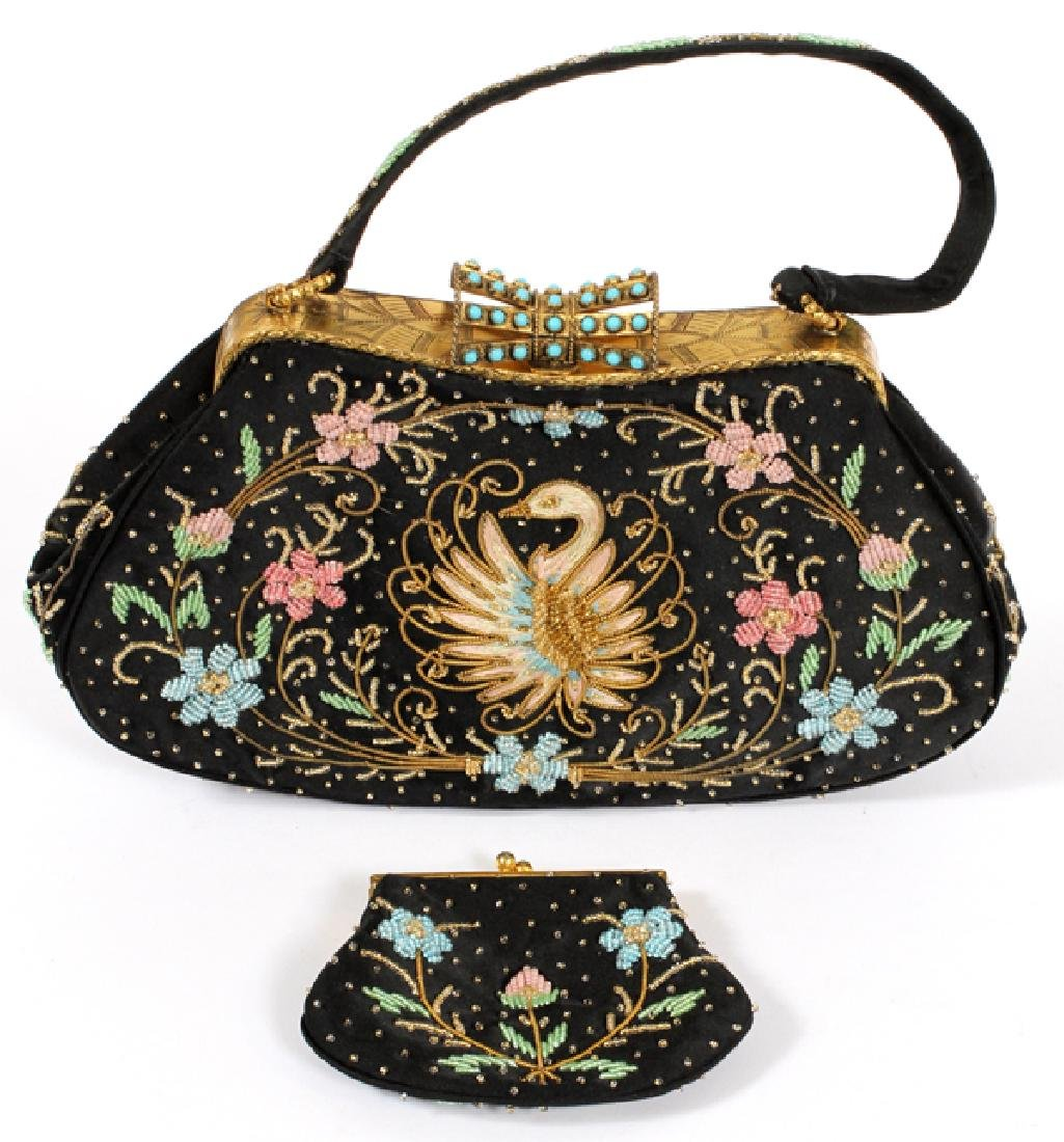 DUIZEND-GANS, EMBROIDERED & BEADED PURSE - 4