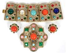 KENNETH JAY LANE COSTUME BRACELET BROOCHEARRINGS