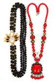 COSTUME JEWELRY NECKLACES 2 PCS