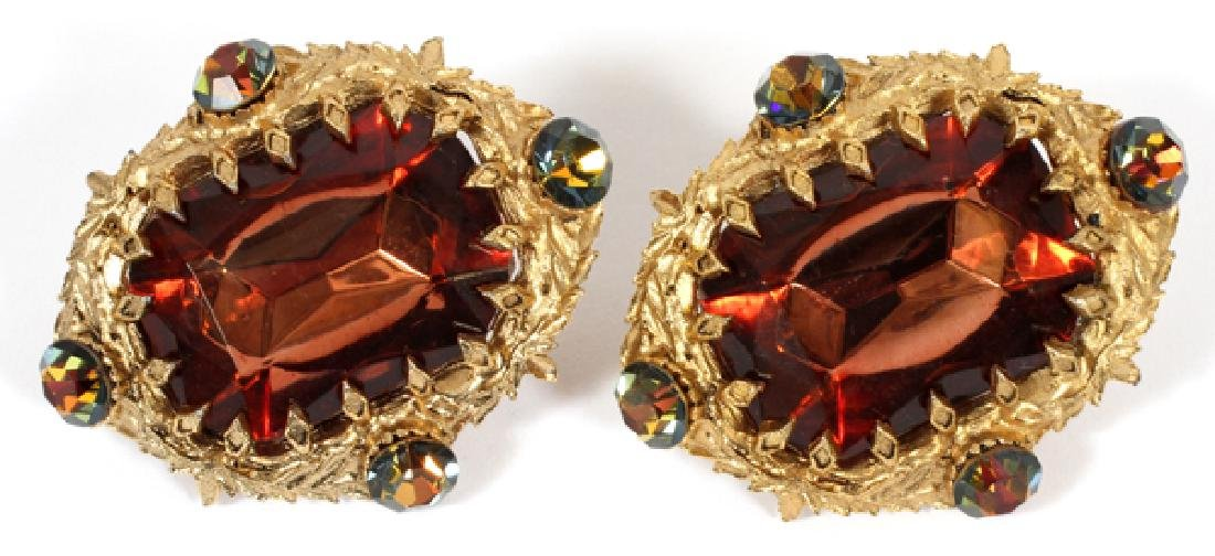 ATTRIB. JAY STRONGWATER TOPAZ COLORED EARRINGS