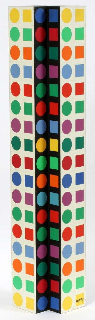 VICTOR VASARELY PLASTIC (COLORED) ON WOOD