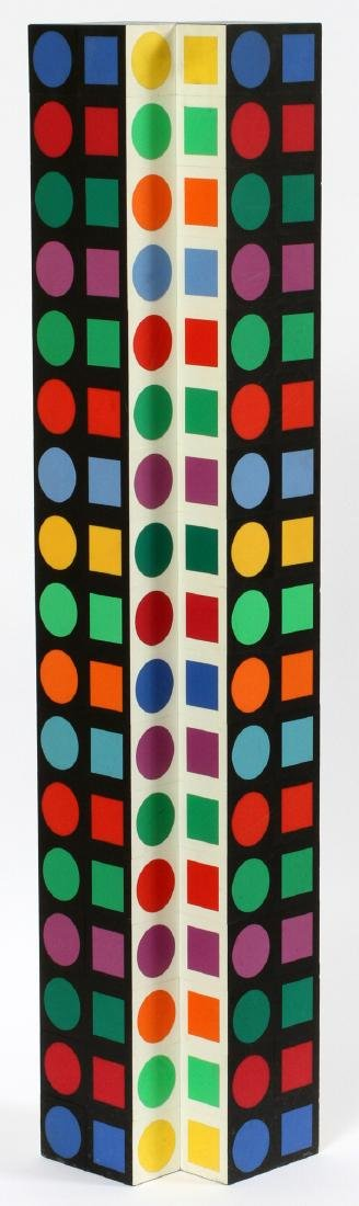 VICTOR VASARELY PLASTIC (COLORED) ON WOOD - 2