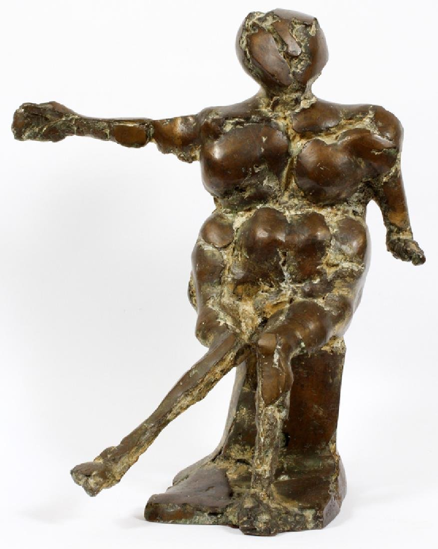 MCCLURE MODERN BRONZE SCULPTURE SEATED FIGURE