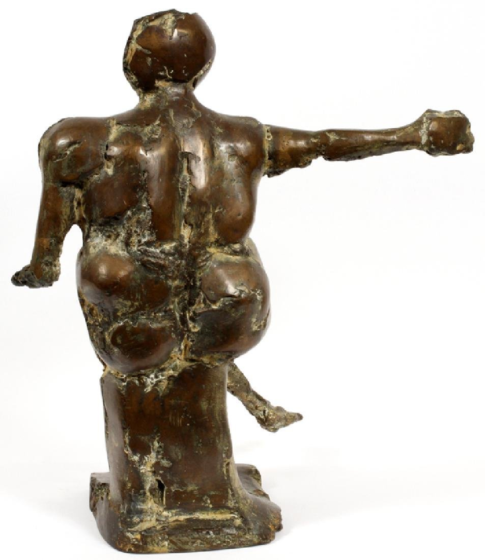 MCCLURE MODERN BRONZE SCULPTURE SEATED FIGURE - 3