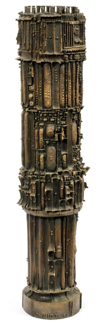 JULIUS SCHMIDT, (1923-17) BRONZE SCULPTURE, 1963