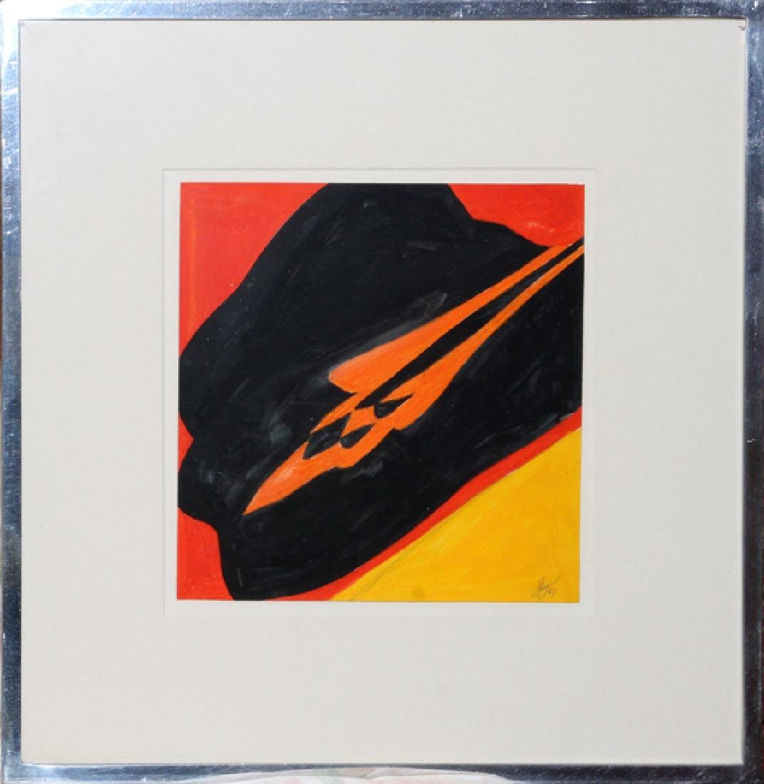 JACK YOUNGERMAN GOUACHE ON PAPER 1967