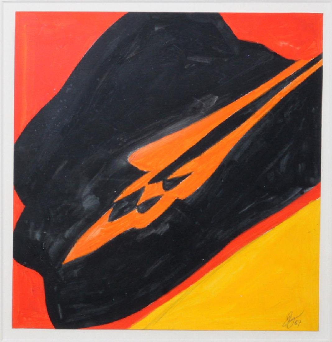 JACK YOUNGERMAN GOUACHE ON PAPER 1967 - 2