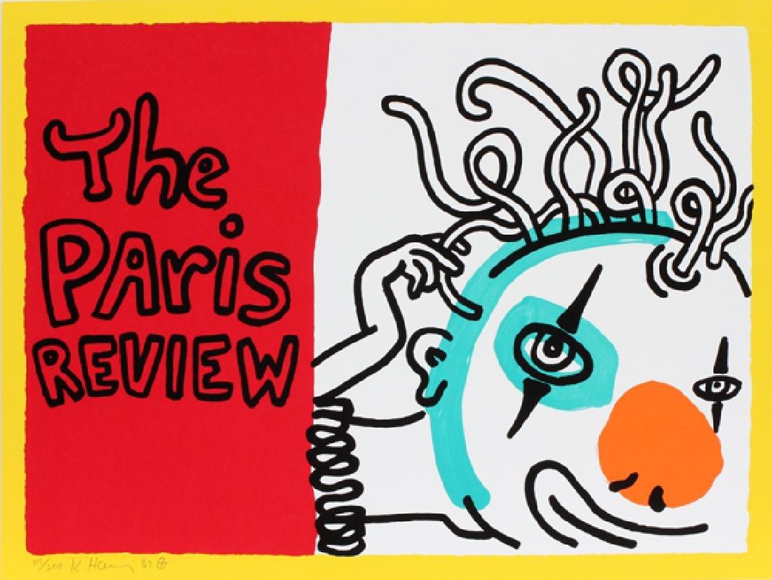 "KEITH HARING, COLOR SCREENPRINT ""THE PARIS REVIEW"""
