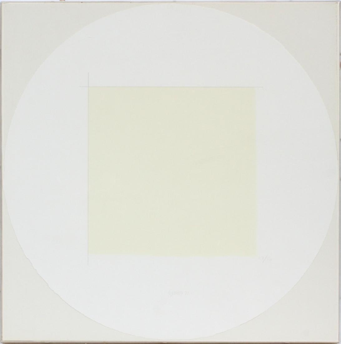 "ROBERT RYMAN CIRCLE LITHOGRAPH 1971 ""TWO STONES"""
