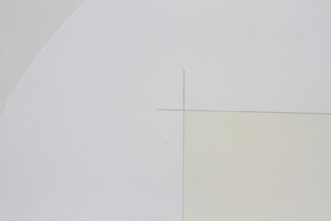"ROBERT RYMAN CIRCLE LITHOGRAPH 1971 ""TWO STONES"" - 2"