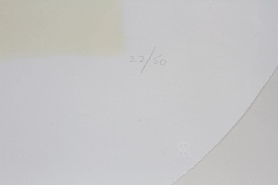 "ROBERT RYMAN CIRCLE LITHOGRAPH 1971 ""TWO STONES"" - 3"