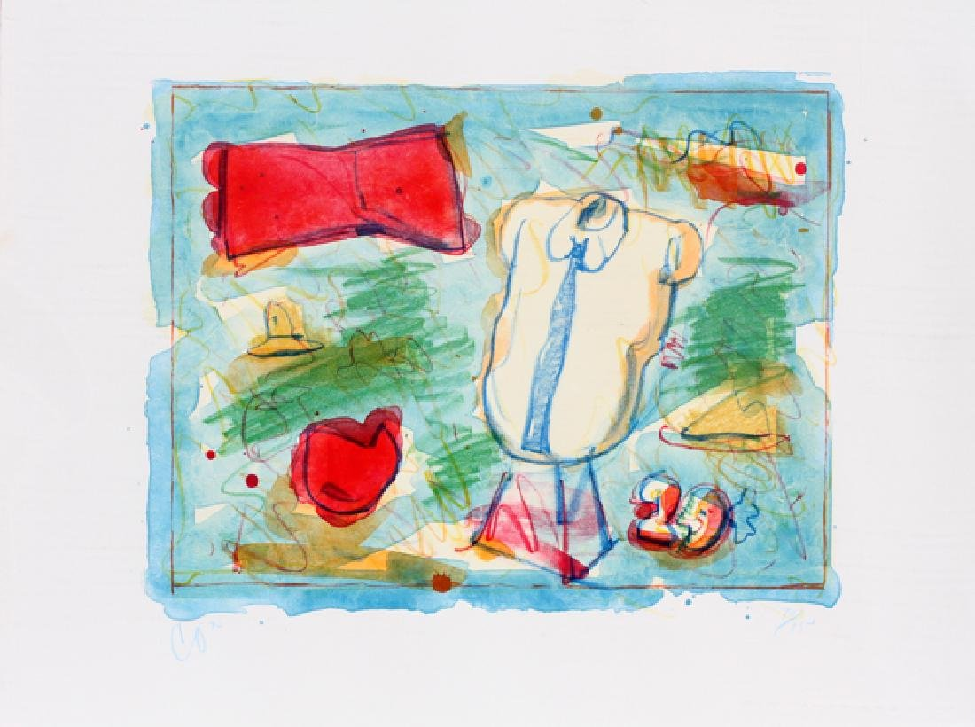 CLAES OLDENBURG COLORED LITHOGRAPH 1973