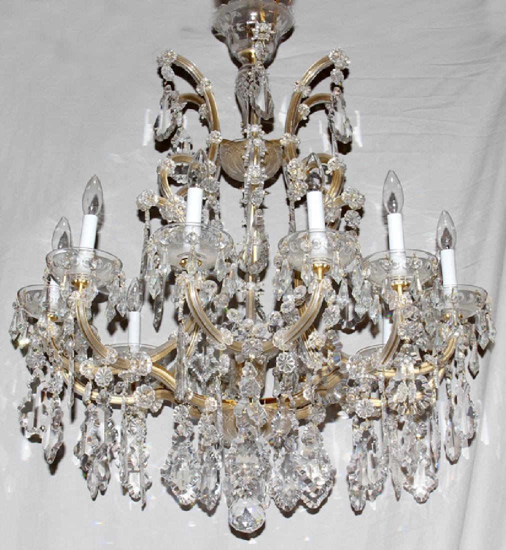 MARIA TERESA CRYSTAL THIRTEEN LIGHT CHANDELIER
