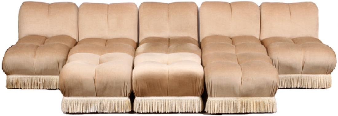 ARMLESS UPHOLSTERED SECTIONAL & OTTOMANS