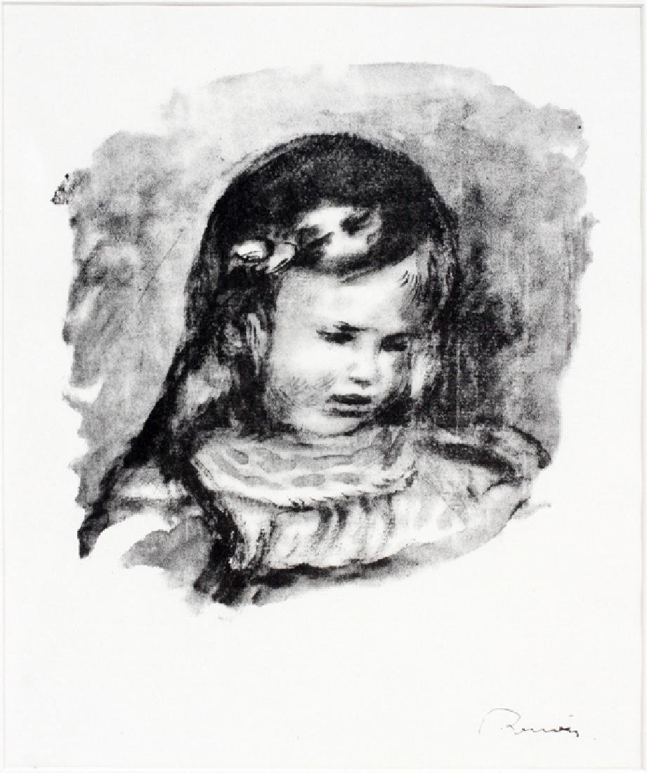 PIERRE-AUGUSTE RENOIR LITHOGRAPH IN BLACK & WHITE