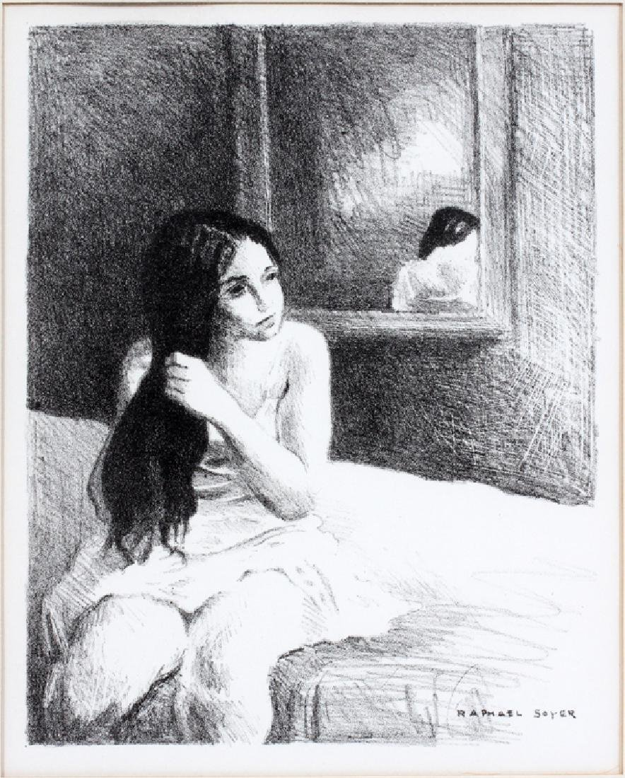 RAPHAEL SOYER LITHOGRAPH IN BLACK & WHITE