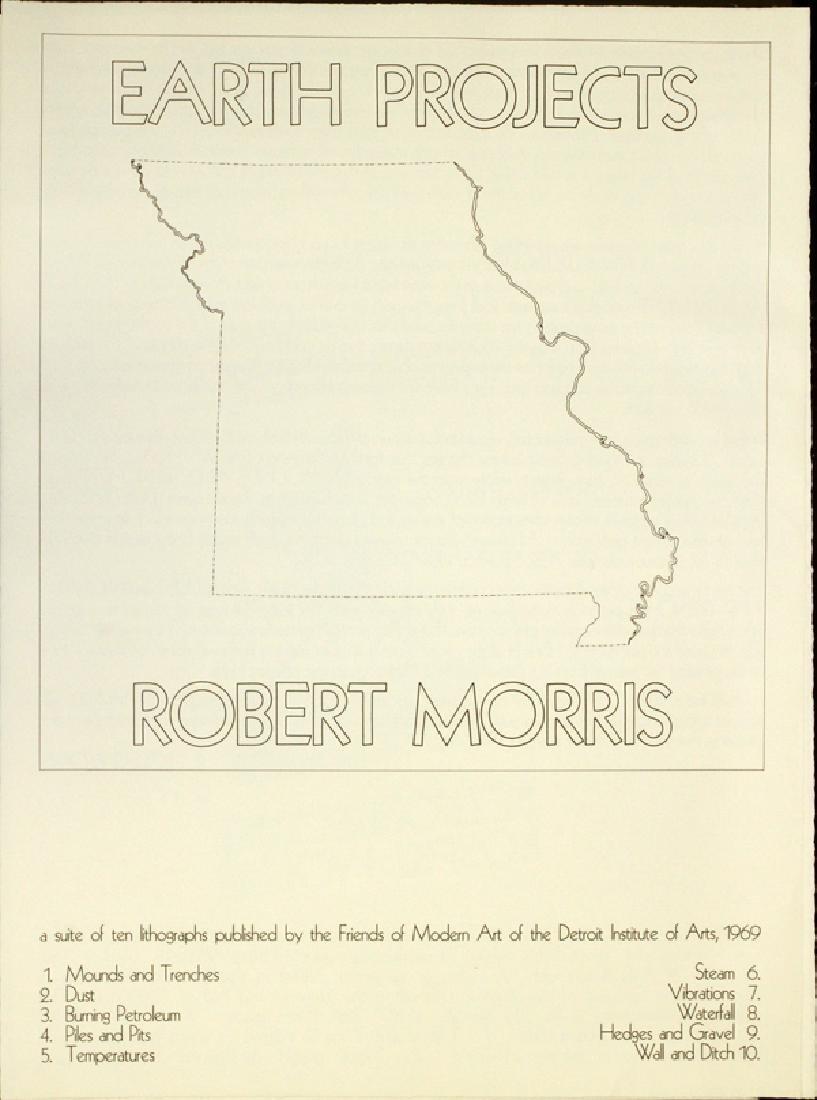 ROBERT MORRIS PORTFOLIO OF LITHOGRAPHS C. 1969 - 2