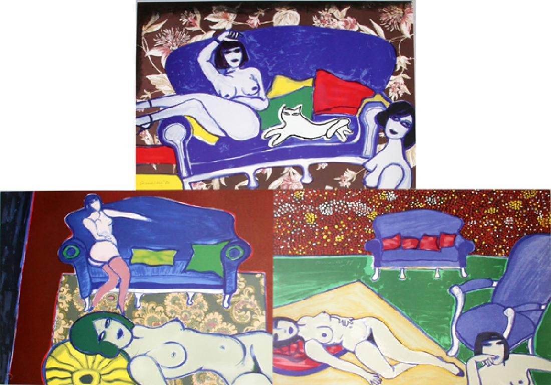 GUILLAUME CORNEILLE 3 LITHOGRAPHS