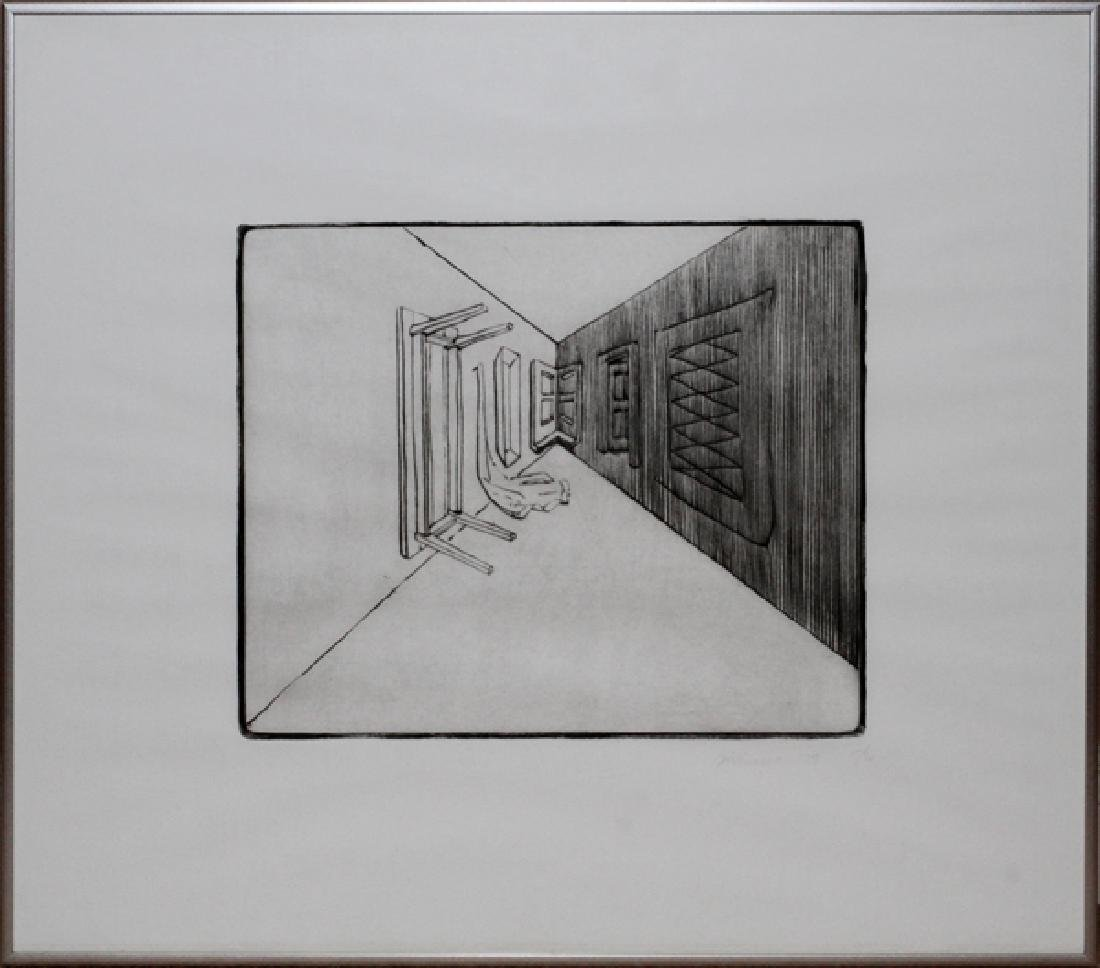 RICHARD ARTSCHWAGER ETCHING C. 1979