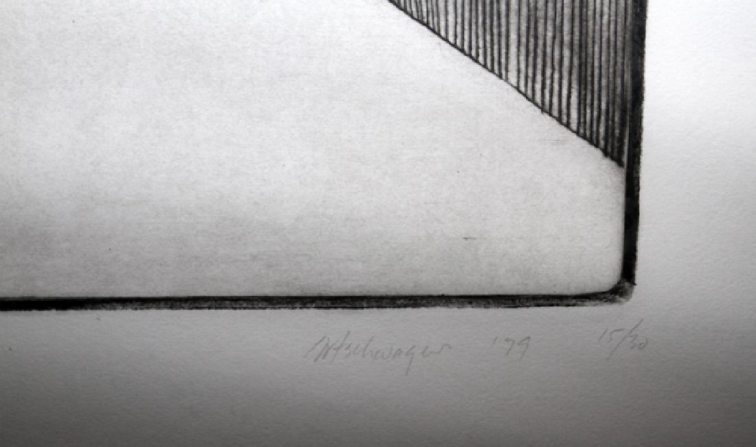 RICHARD ARTSCHWAGER ETCHING C. 1979 - 2