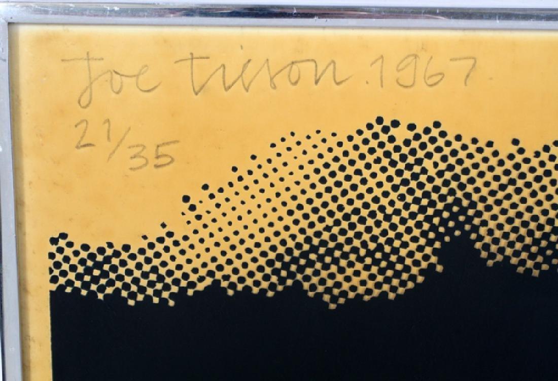 JOE TILSON SCREENPRINT WITH ACETATE, 1967 - 3