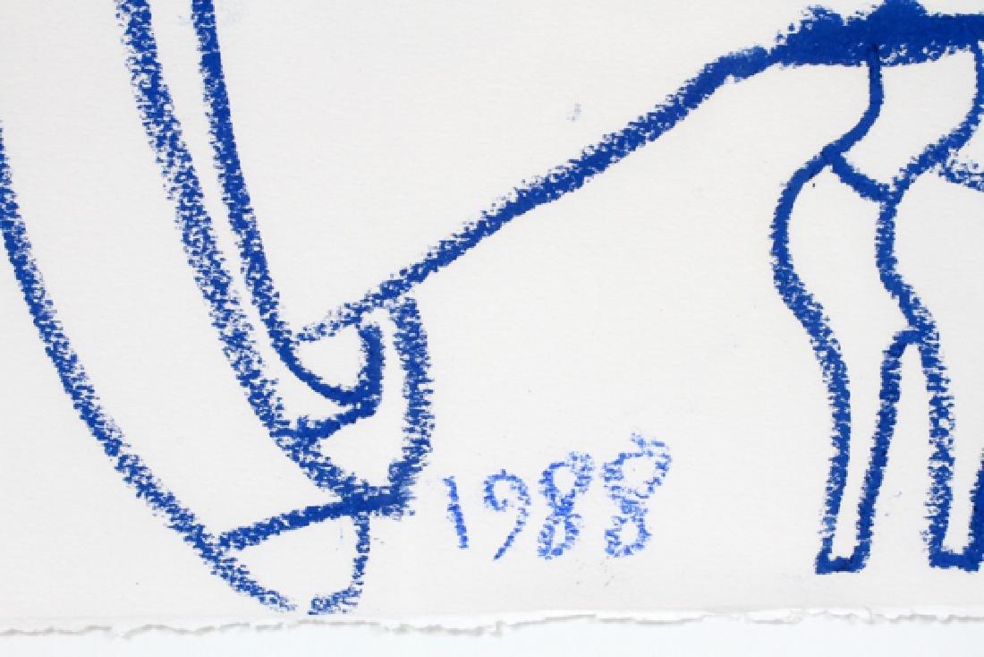 MARK KOSTABI CRAYON DRAWING, 1988, UNTITLED - 3