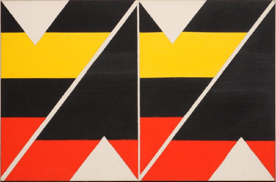 LARRY ZOX LIQUITEX ON CANVAS, C. 1965