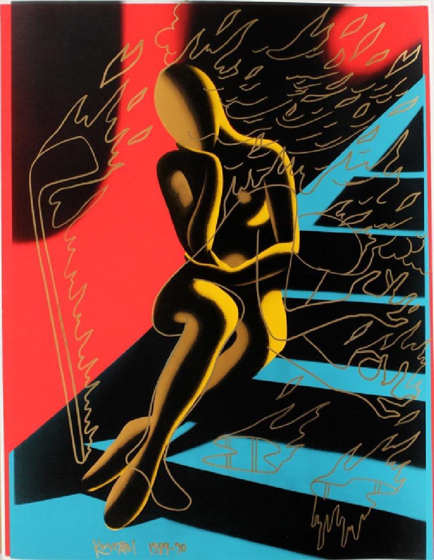 MARK KOSTABI SCREENPRINT WITH GILT, 1989-1990