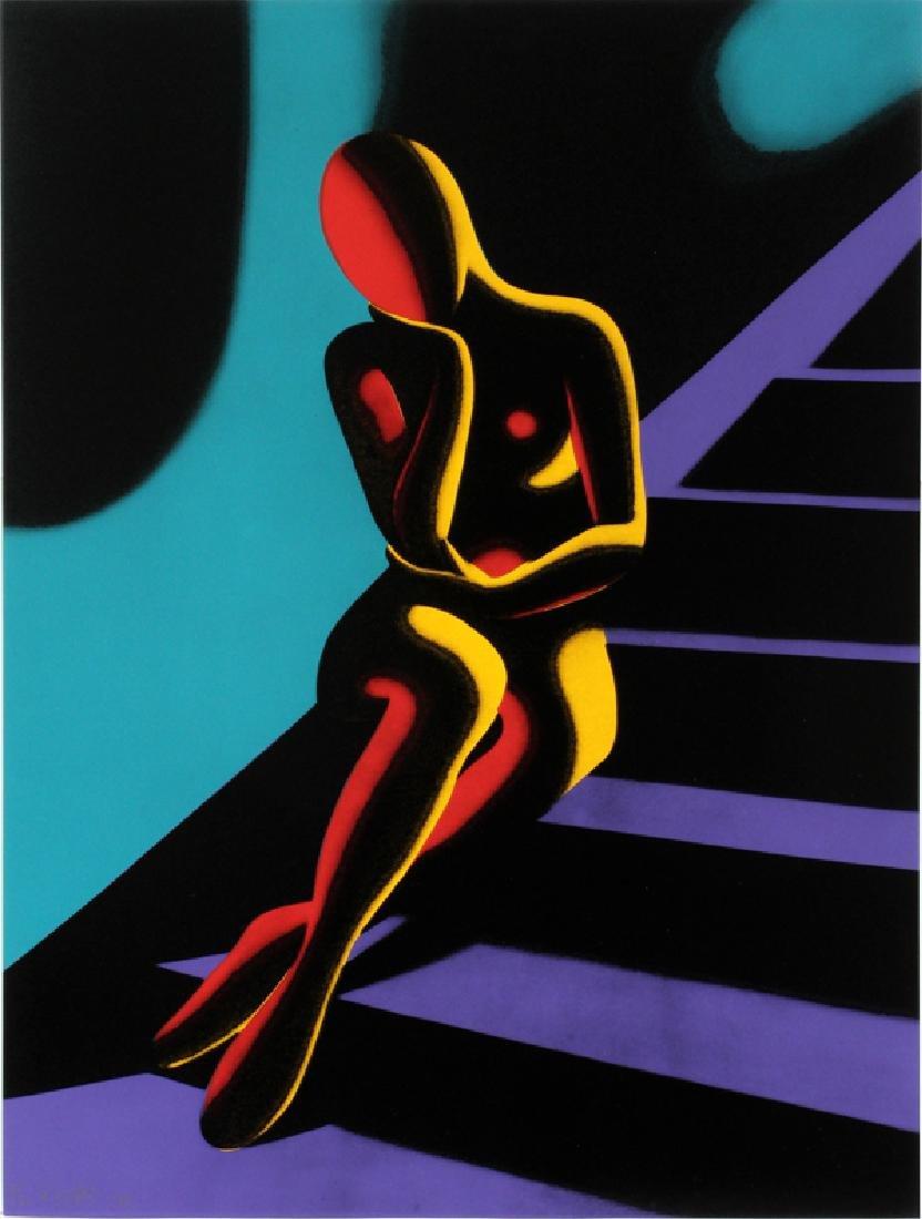 "MARK KOSTABI SCREENPRINT 1989 ""UPWARDLY MOBILE"""