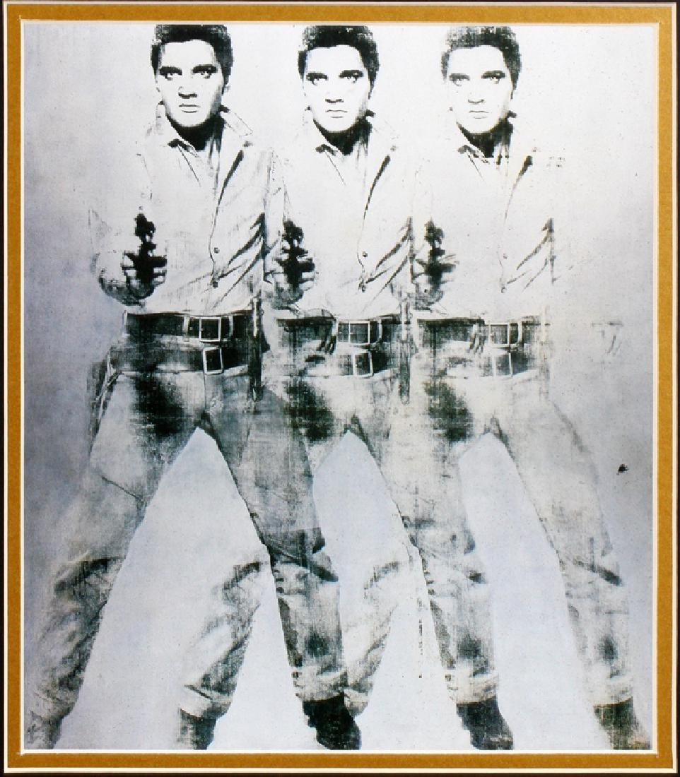 ANDY WARHOL PHOTO MECHANICAL LITHOGRAPH, C. 1978