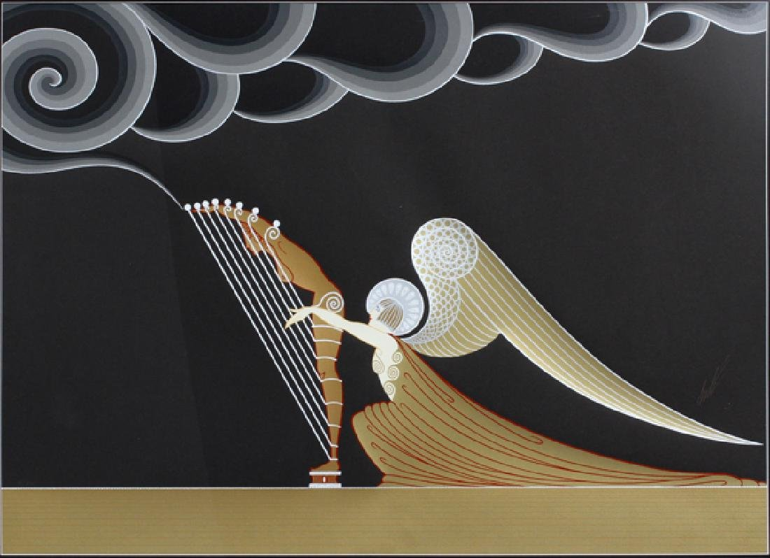 """ERTE SERIGRAPH IN COLORS """"THE ANGEL"""""""