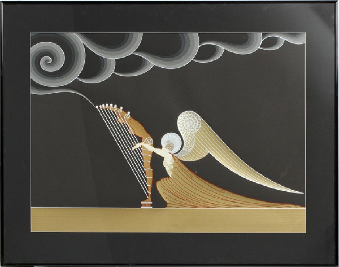 """ERTE SERIGRAPH IN COLORS """"THE ANGEL"""" - 2"""