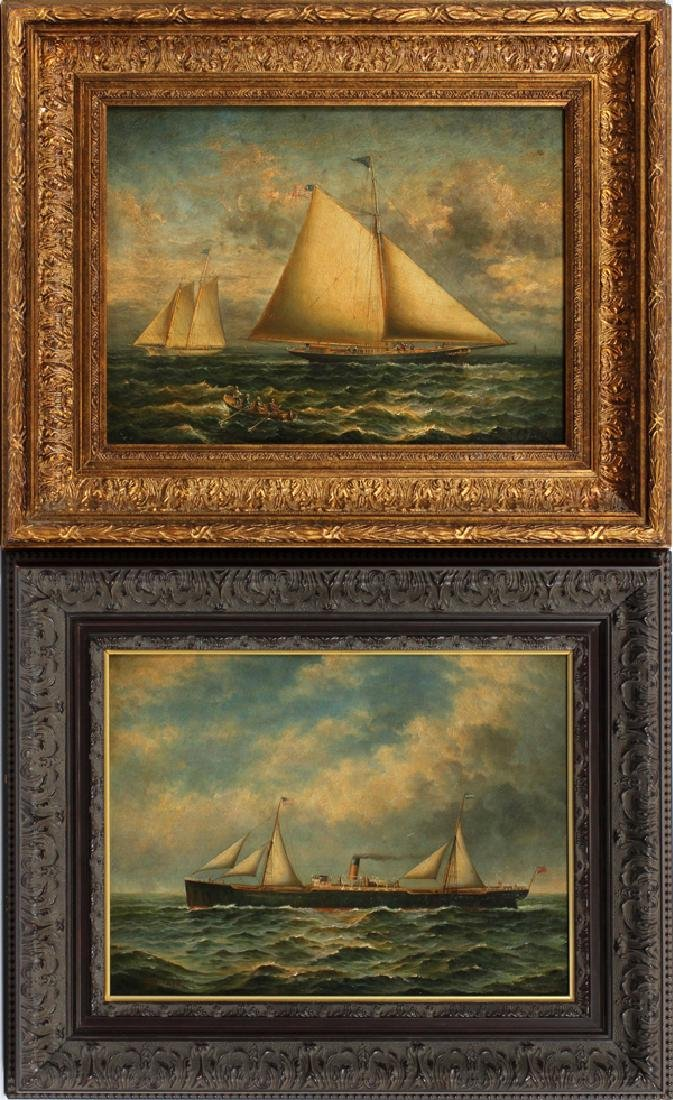 J. CLARK OIL ON PANEL PAINTINGS, TWO