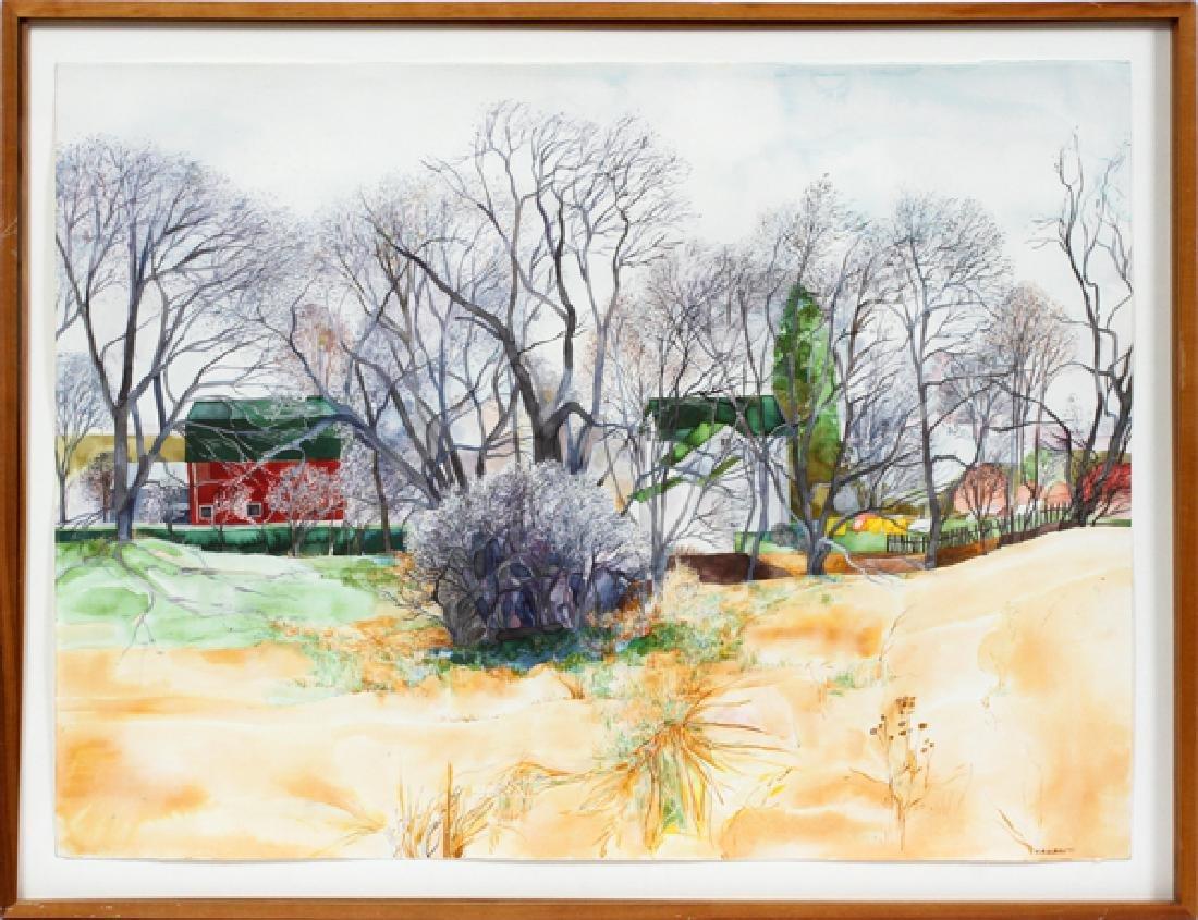 K.A. KLEIN WATERCOLOR 1977 LANDSCAPE