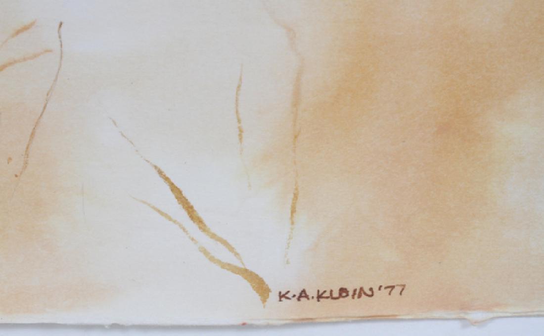 K.A. KLEIN WATERCOLOR 1977 LANDSCAPE - 3