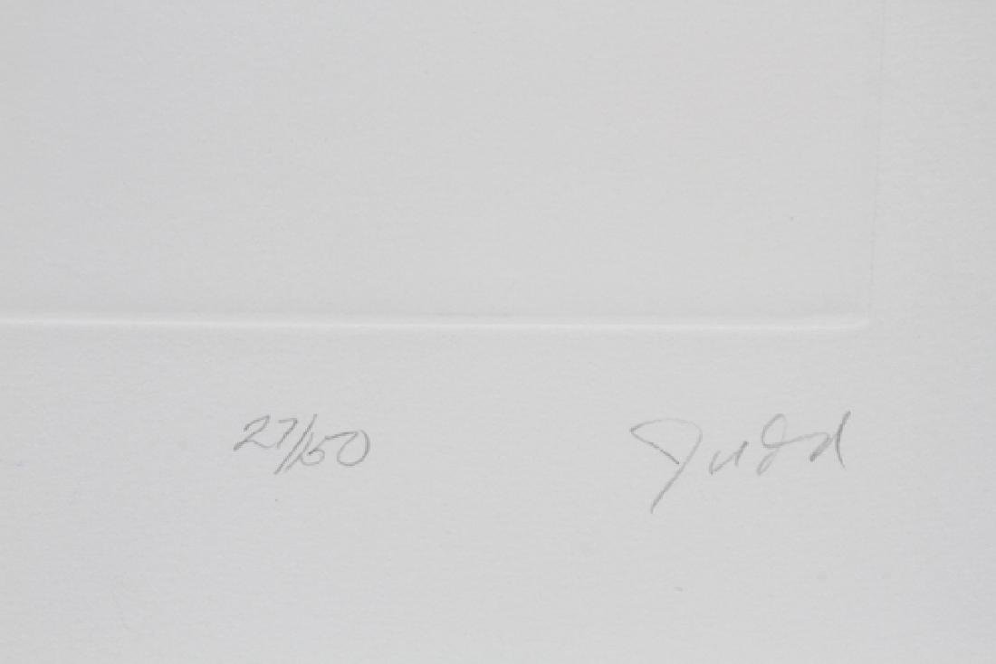 DONALD JUDD AQUATINT ON PAPER C. 1980, 27/150 - 2