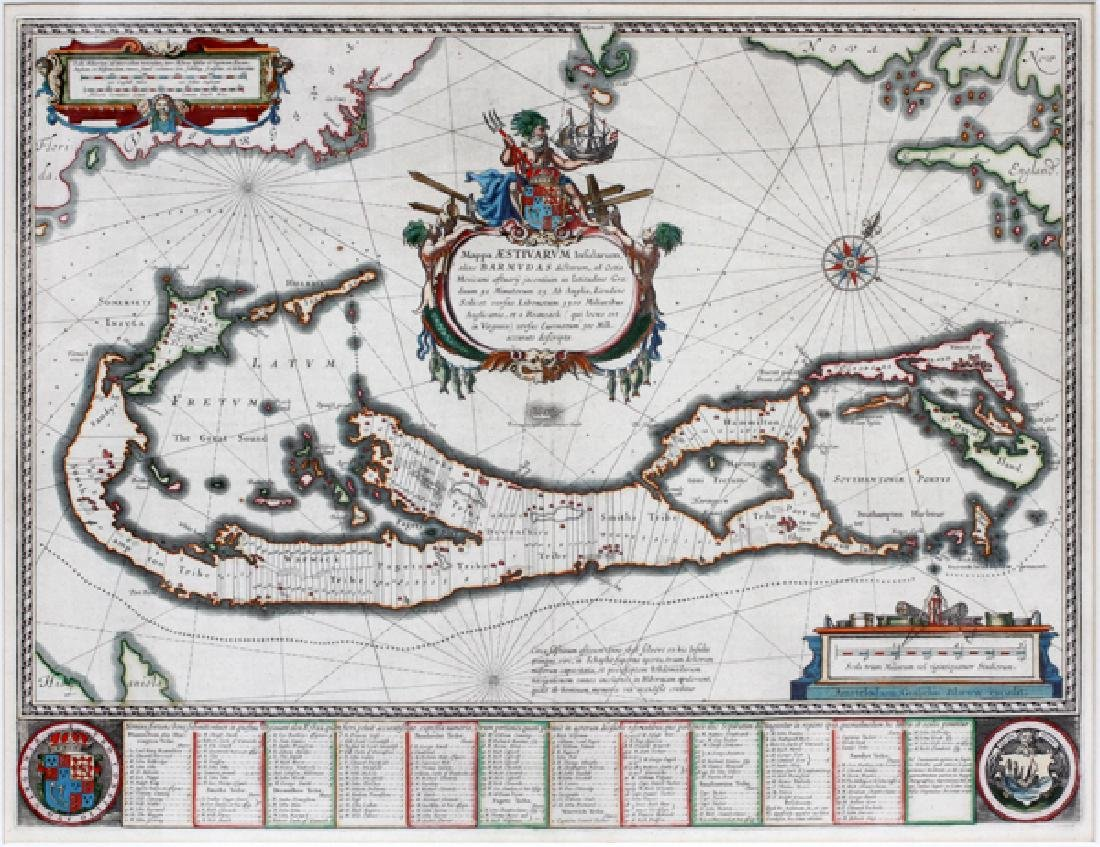 ATTRIBUTED TO WILLEN BLAEU 2 ENGRAVED MAPS - 3
