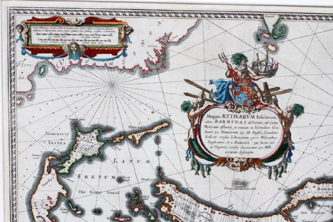 ATTRIBUTED TO WILLEN BLAEU 2 ENGRAVED MAPS - 5