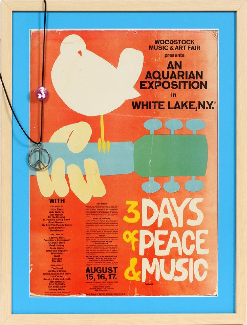 WOODSTOCK POSTER, FLYER, AND TICKETS