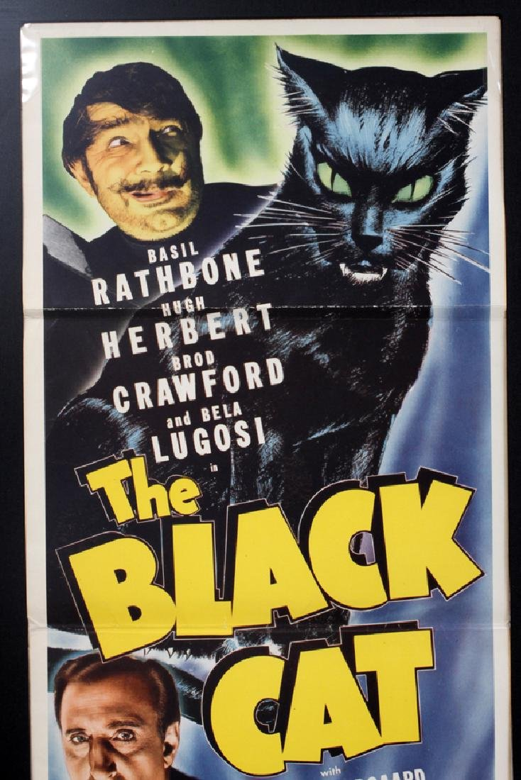 """""""THE BLACK CAT"""" MOVIE POSTER, H 34 1/2'', W 13'' - 2"""