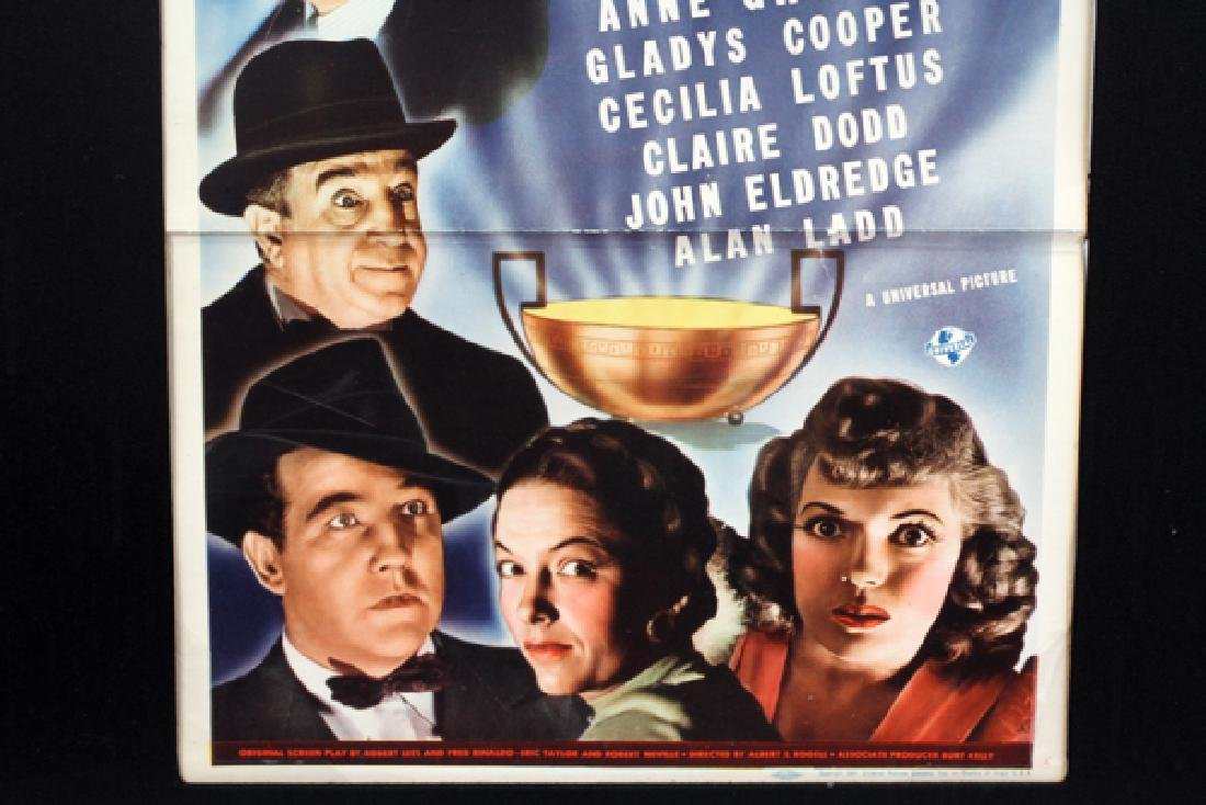 """""""THE BLACK CAT"""" MOVIE POSTER, H 34 1/2'', W 13'' - 3"""